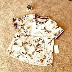 A New Day!shimery flowery blouse/XS/NWT